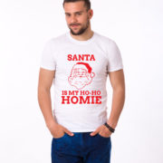 Santa is my ho ho homie shirt, Santa shirt, Christmas shirt, Christmas t-shirt, UNISEX