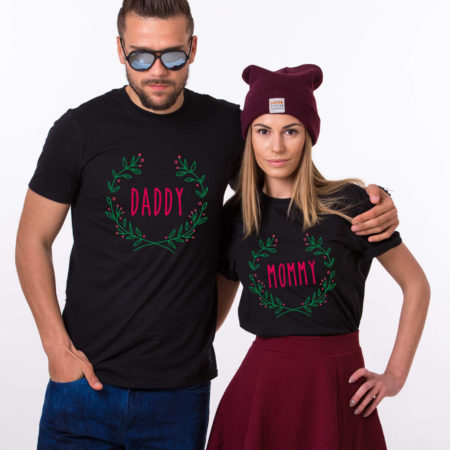 Mommy daddy baby Christmas matching shirts for the whole family, Custom name, UNISEX