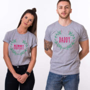 Mommy daddy baby Christmas matching shirts for the whole family, Custom name, UNISEX 4