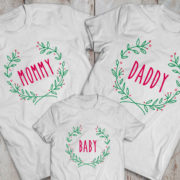 Mommy daddy baby Christmas matching shirts for the whole family, Custom name, UNISEX 2