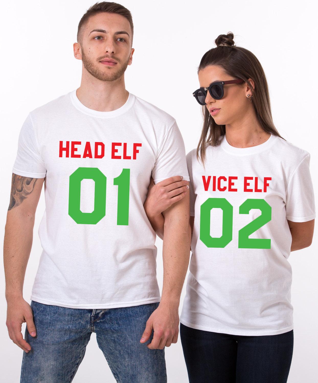 head elf vice elf matching shirts matching couples christmas shirts matching couples christmas outfits