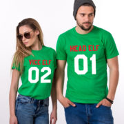 Head Elf Vice Elf matching shirts, matching couples Christmas shirts, matching couples Christmas outfits, 100% cotton Tee, UNISEX 3