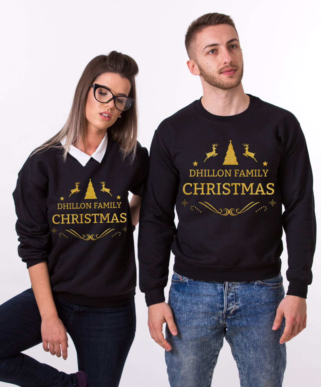 Custom Name Matching Family Christmas Sweatshirts Awesome Matching Shirts For Couples Families And Friends By Epic Tees