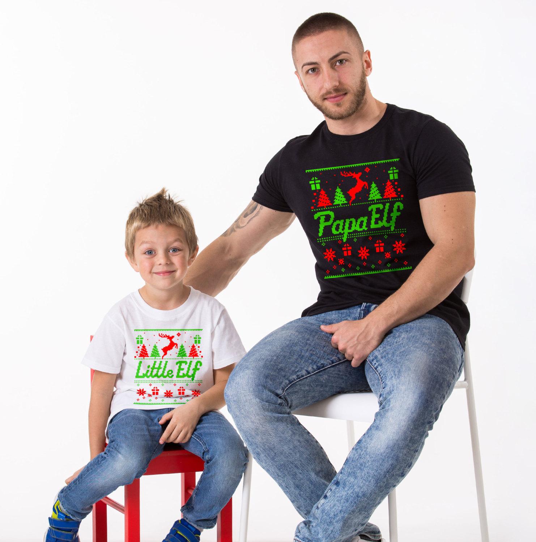 Matching Family Christmas Outfits Australia.Papa Elf Mama Elf Little Elf Matching Family Christmas Shirts