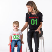 Head Elf Mommy Elf Little Elf family shirts, matching family Christmas shirts, matching Christmas outfits, 100% cotton Tee, UNISEX 3