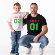 Head Elf Mommy Elf Little Elf family shirts, matching family Christmas shirts, matching Christmas outfits, 100% cotton Tee, UNISEX 4