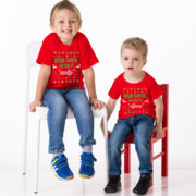 Kids Christmas shirt, Kids Christmas outfit , Sibling shirts, Dear Santa she did it, Dear Santa he did it, TWO kids shirts 4
