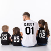 Daddy, Baby, Kid, Black/White, White/Black