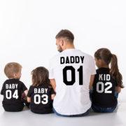 Daddy Kid Baby, Black/White, White/Black