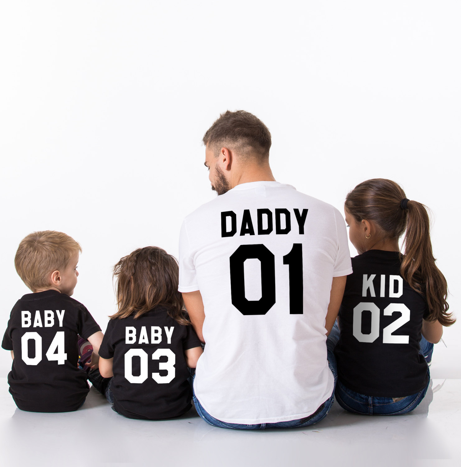 Mommy, Daddy, Kid, Baby, Matching Family Shirts