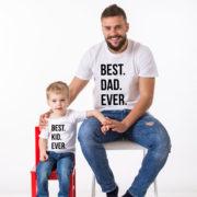 Best Dad Ever, Best Kid Ever, White/Black