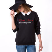 Dear Santa I can explain sweatshirt, Santa sweatshirt, Christmas sweatshirt, Christmas sweatshirt, UNISEX 2