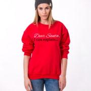 Dear Santa I can explain sweatshirt, Santa sweatshirt, Christmas sweatshirt, Christmas sweatshirt, UNISEX 5