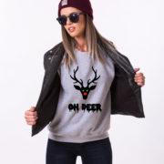 Oh deer, Oh deersweatshirt, Christmas sweatshirt, Oh deer sweatshirt,  UNISEX