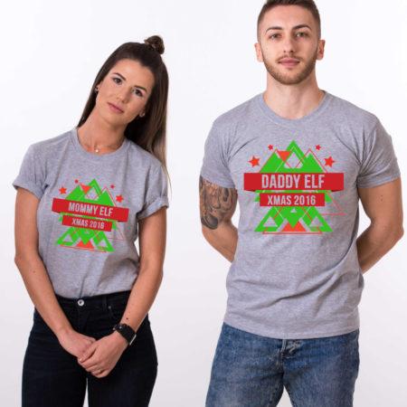 Daddy elf, Mommy elf, Christmas matching shirts, couples Christmas shirts, elf Christmas shirts, UNISEX