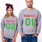 Head Elf Vice Elf sweatshirts, Matching couple Christmas sweatshirts, Christmas sweatshirt,  UNISEX 3