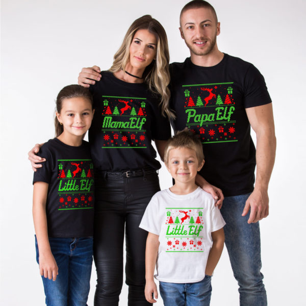 Christmas family shirts, Elf shirts, Elf shirt, Mama Elf, Papa Elf, Little Elf, Baby Elf, Elf family shirts, Christmas elf shirts, UNISEX 1