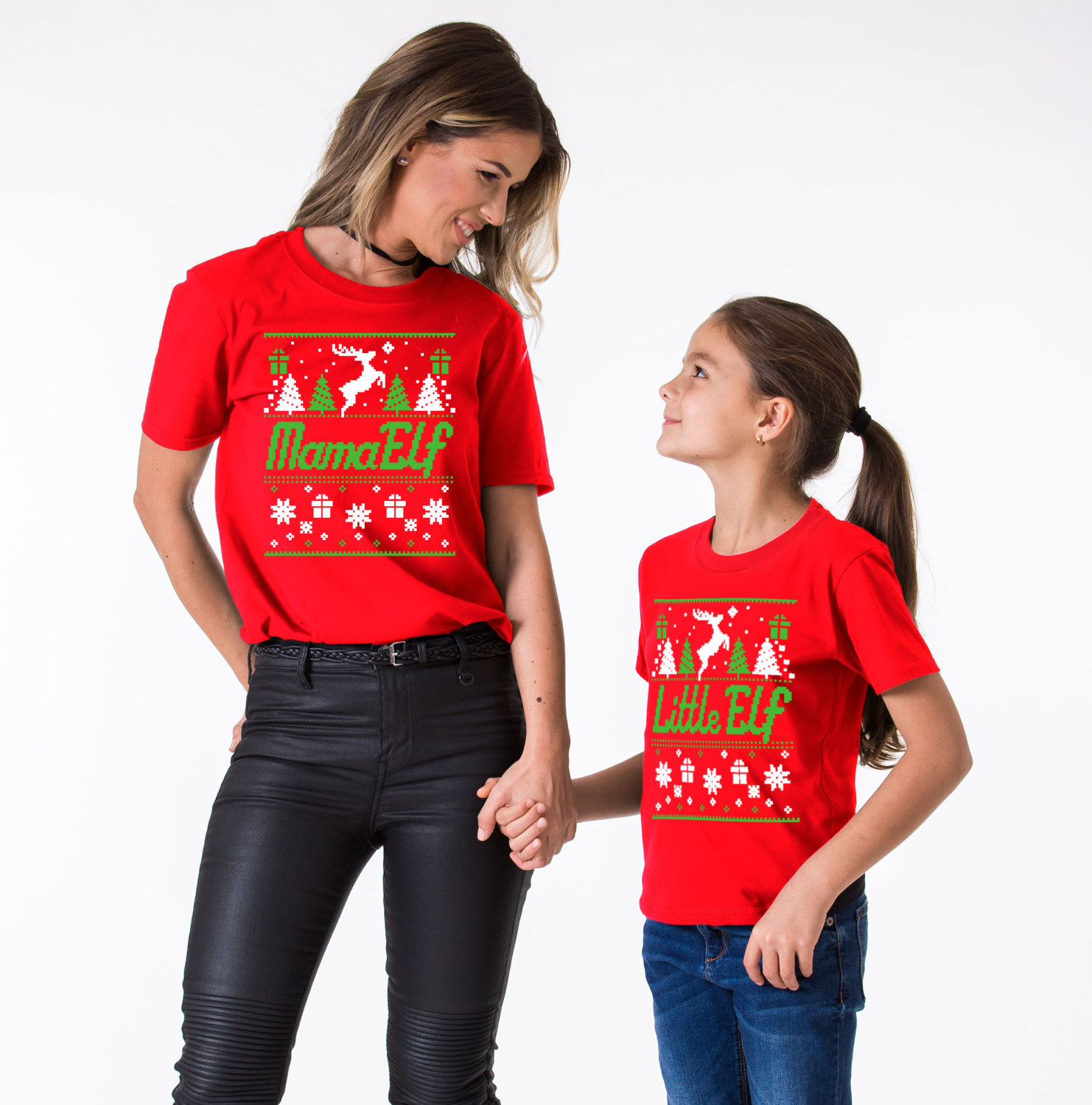f0e0fae4 Papa Elf, Mama Elf, Little Elf, Matching Family Christmas Shirts ...