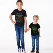 Kids Christmas shirt, Kids Christmas outfit , Sibling shirts, Dear Santa she did it, Dear Santa he did it, TWO kids shirts 3