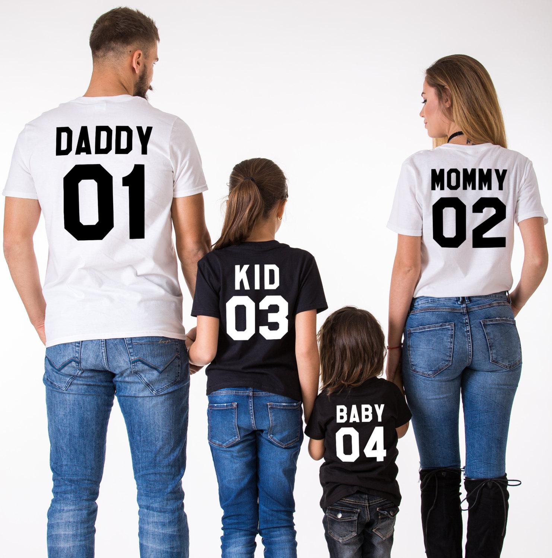 459af4397 Mommy Daddy Kid Baby, Black/White, White/Black