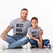 Best Dad Ever, Best Kid Ever, Gray/Black