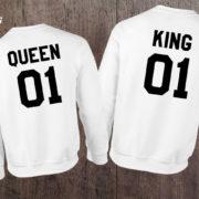 King Queen 01 Set of 2 Couple Crewnecks, King Queen 01 Set of 2 Couple Sweaters, UNISEX 5