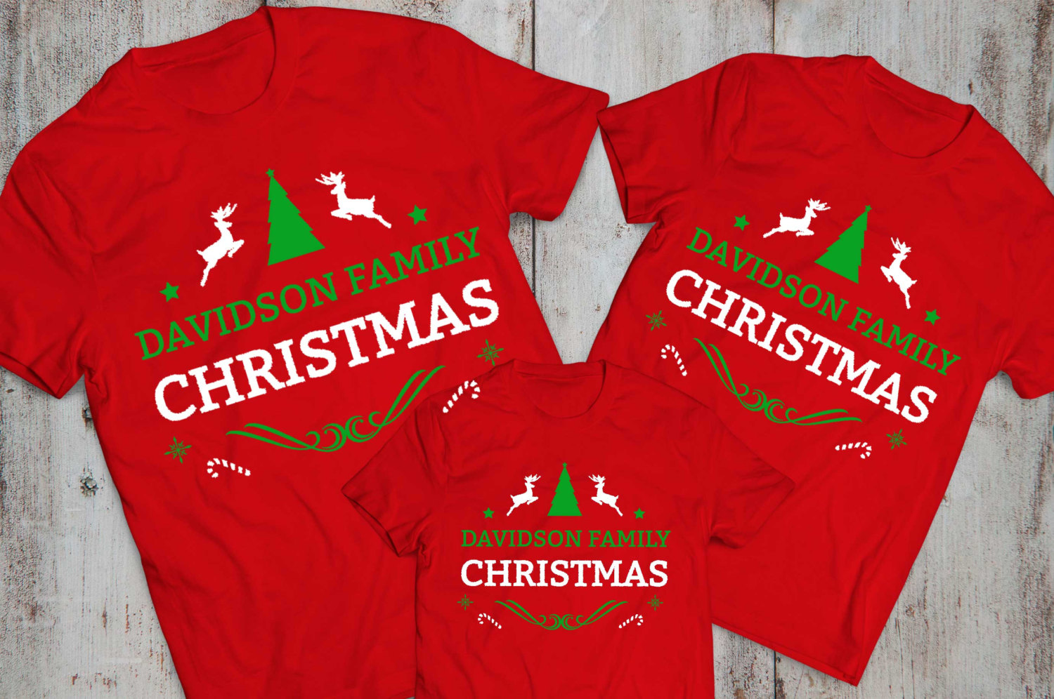 CUSTOM Name Matching Family Christmas Shirts - Awesome ...