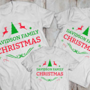 CUSTOM name set of 3 family matching Christmas shirts, matching family Christmas shirts, matching Christmas outfits,family Christmas pajamas 1