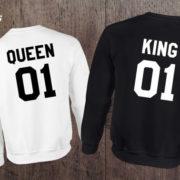 King Queen 01 Set of 2 Couple Crewnecks, King Queen 01 Set of 2 Couple Sweaters, UNISEX 4