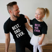 Best Dad Ever, Best Kid Ever, Black/White, Black/Pink