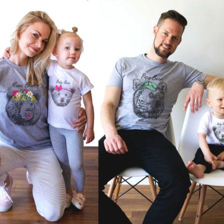 Papa Bear, Mama Bear, Baby Bear, Bear Shirts, Matching Family