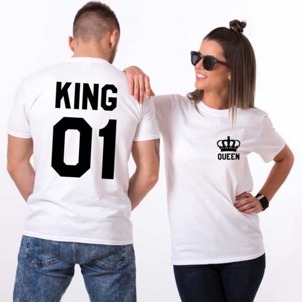 King Queen 01 Pocket Crowns, White/Black