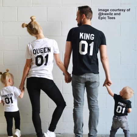 King Queen Prince Princess, Matching Family Shirts
