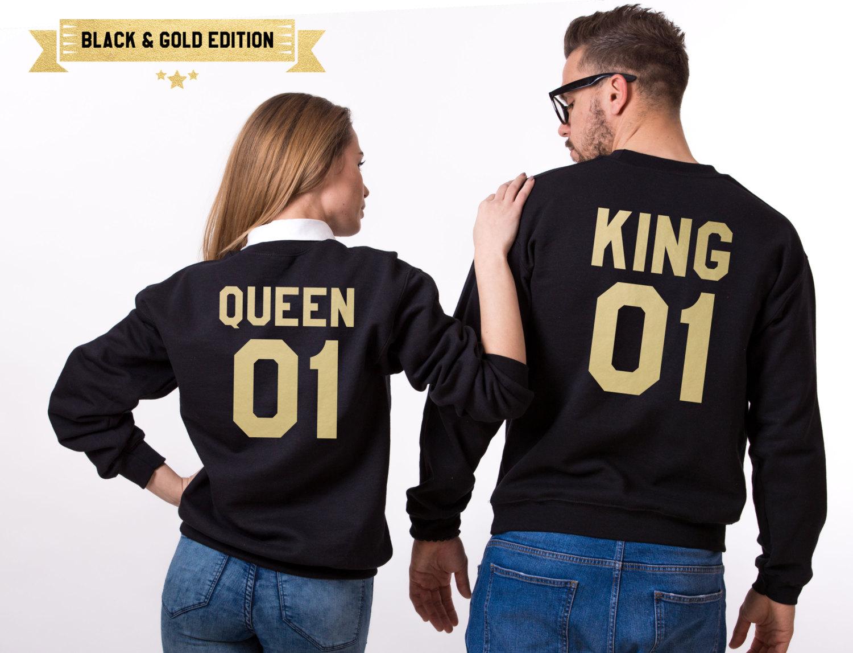King Queen 01 Sweatshirts, Matching Couples Sweatshirts