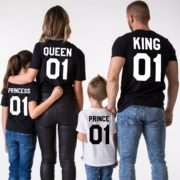 King Queen Prince Princess, Black/White, White/Black