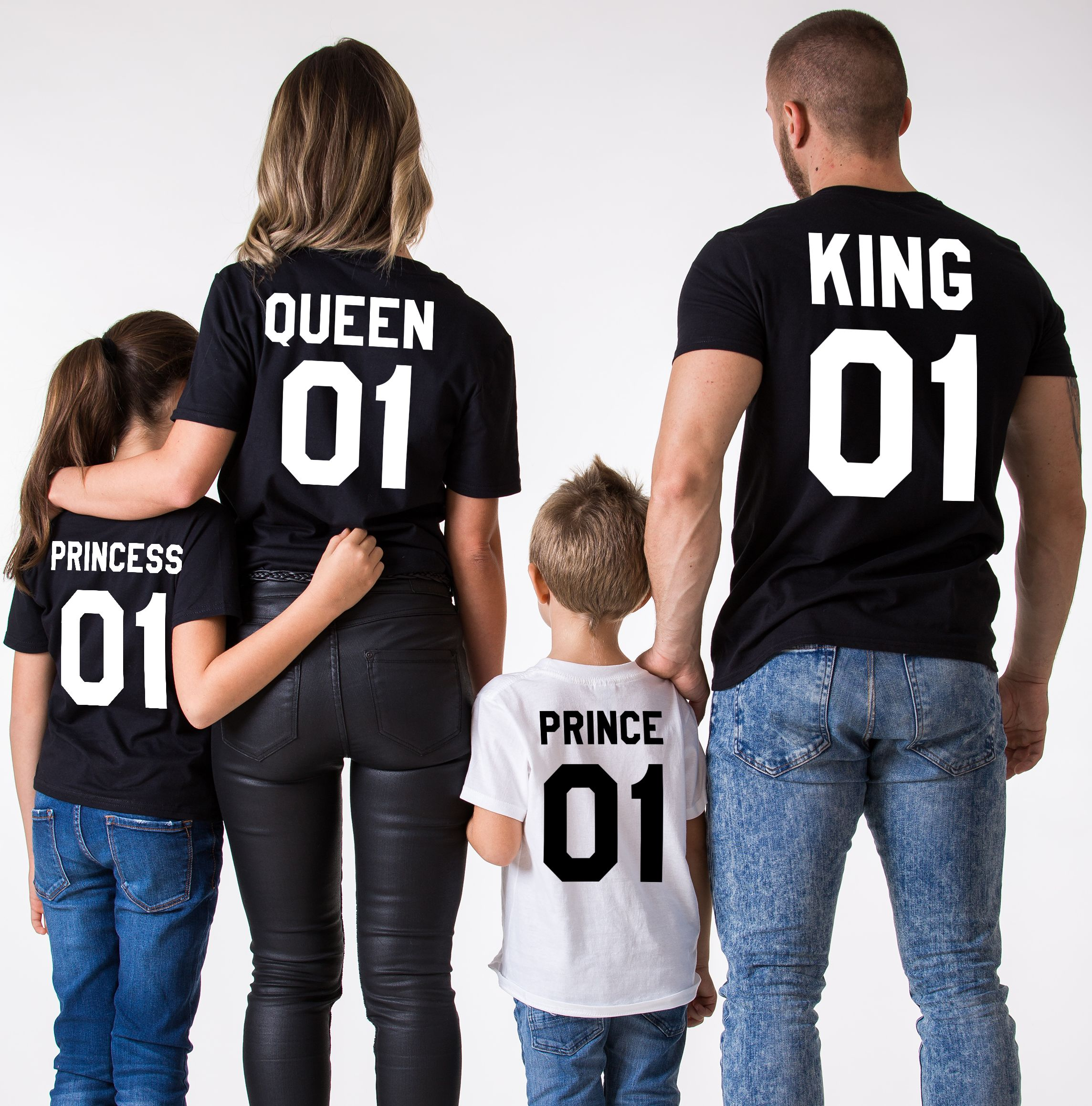 ee96dd46aa5ad King, Queen, Prince, Princess, Matching Family Shirts