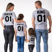 King Queen Princess, Grey/Black
