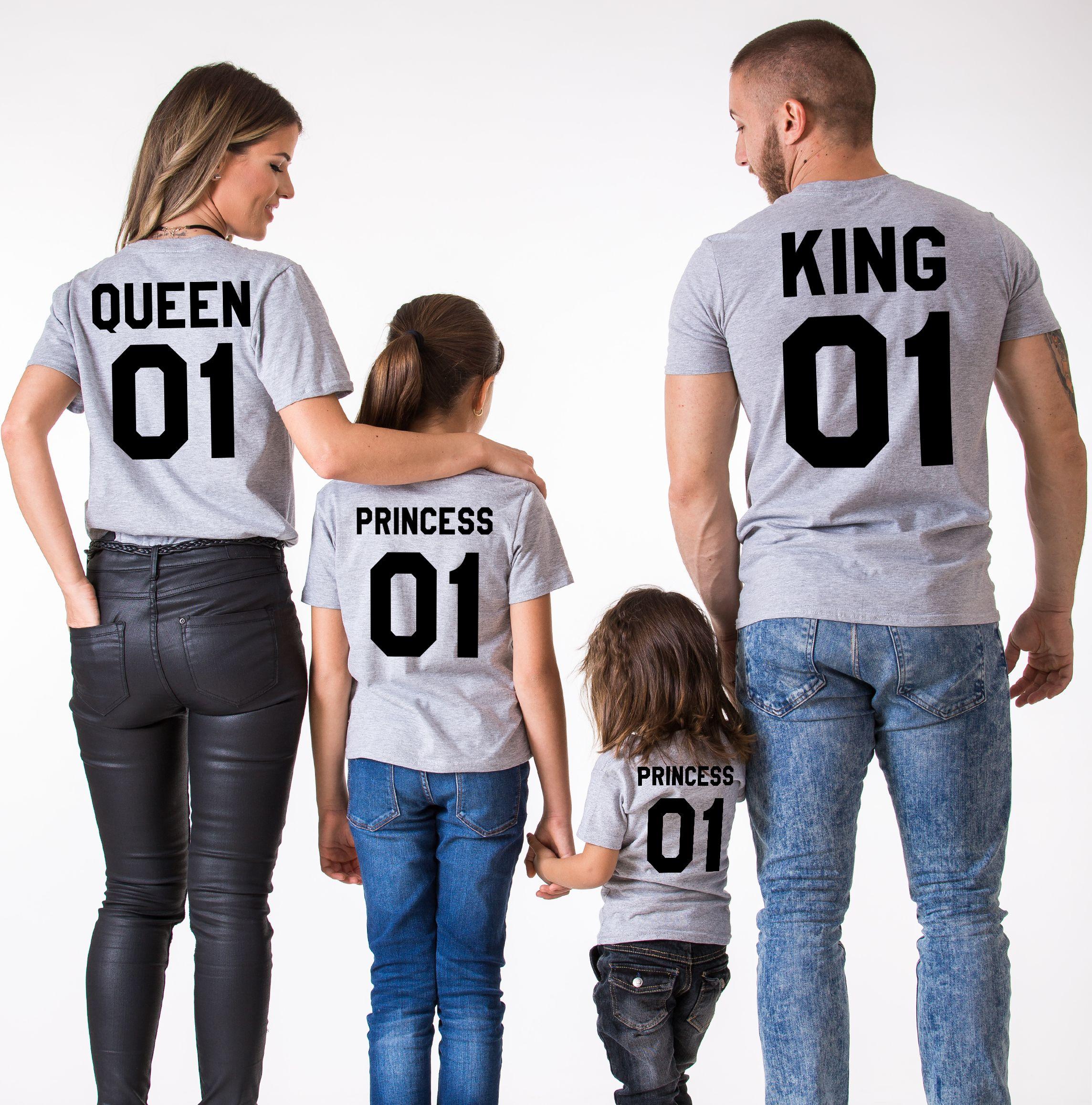 foto de King Queen Princess Matching Family Shirts