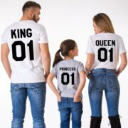 King Queen Princess, White/Black, Grey/Black