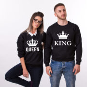 King Queen Sweatshirts, Black/White