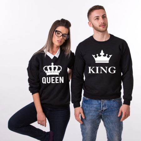 King Queen Sweatshirts, Matching Couples Sweatshirts