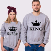 King Queen Sweatshirts, Grey/Black