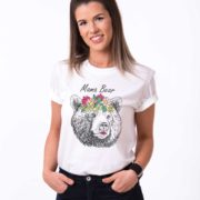 Mama Bear, White/Black