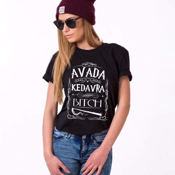 Avada Kedavra Bitch, Black/White