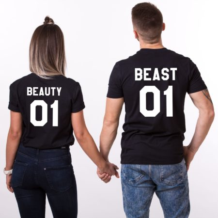 Beauty 01 and Beast 01 Matching Couples Shirts