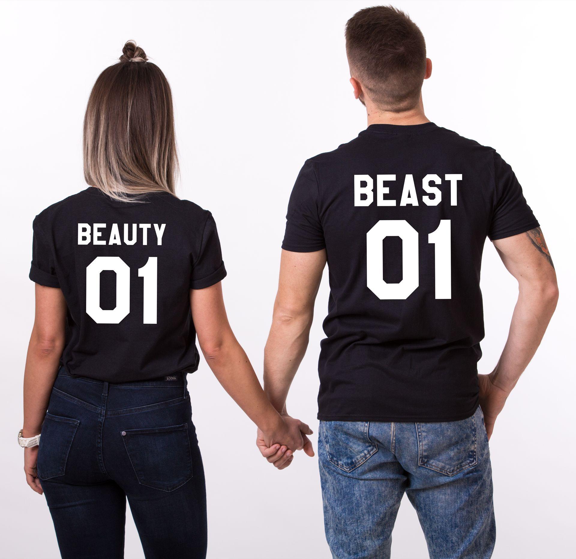d1eb8d84a0c Beauty 01 Beast 01, Matching Couples Shirts