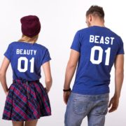 Beauty 01 and Beast 01, Blue/White