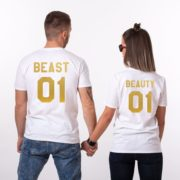 Beauty 01 and Beast 01, White/Gold