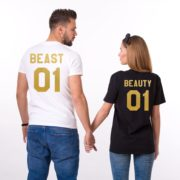 Beauty 01 and Beast 01, White/Gold, Black/Gold