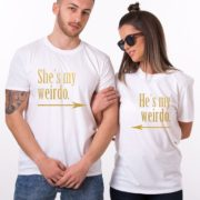 He's My Weirdo, She's My Weirdo, White/Gold